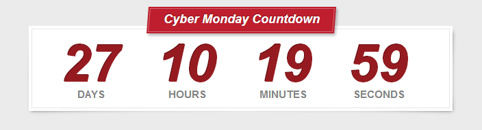 Cyber Monday Counter
