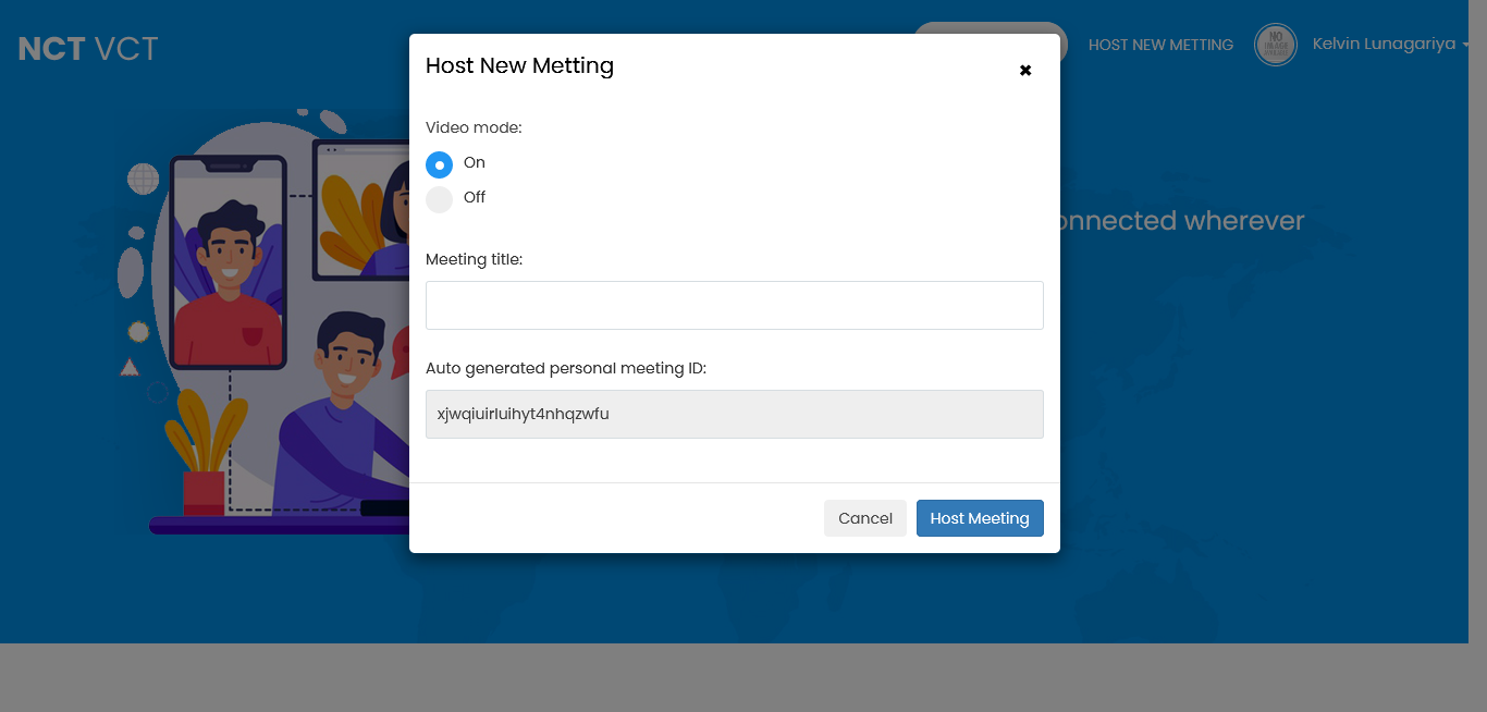 Create/Join Meeting