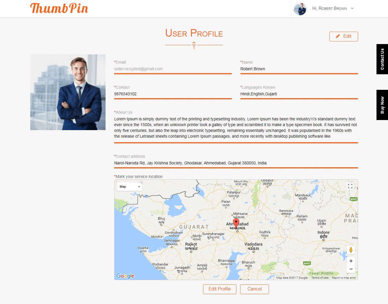 Pin-point Service Location on Google MAP