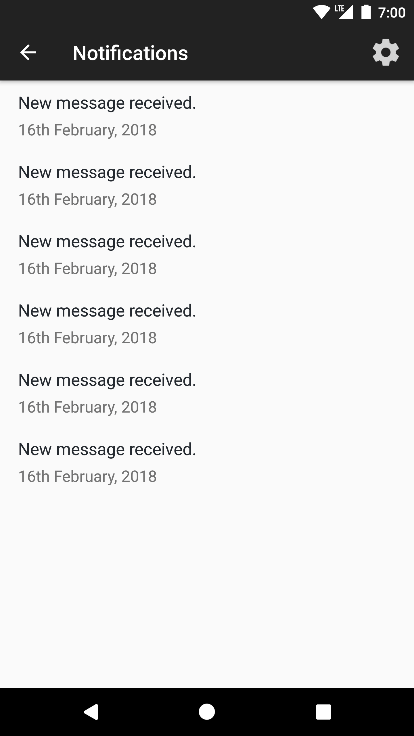 Automated Service request notification