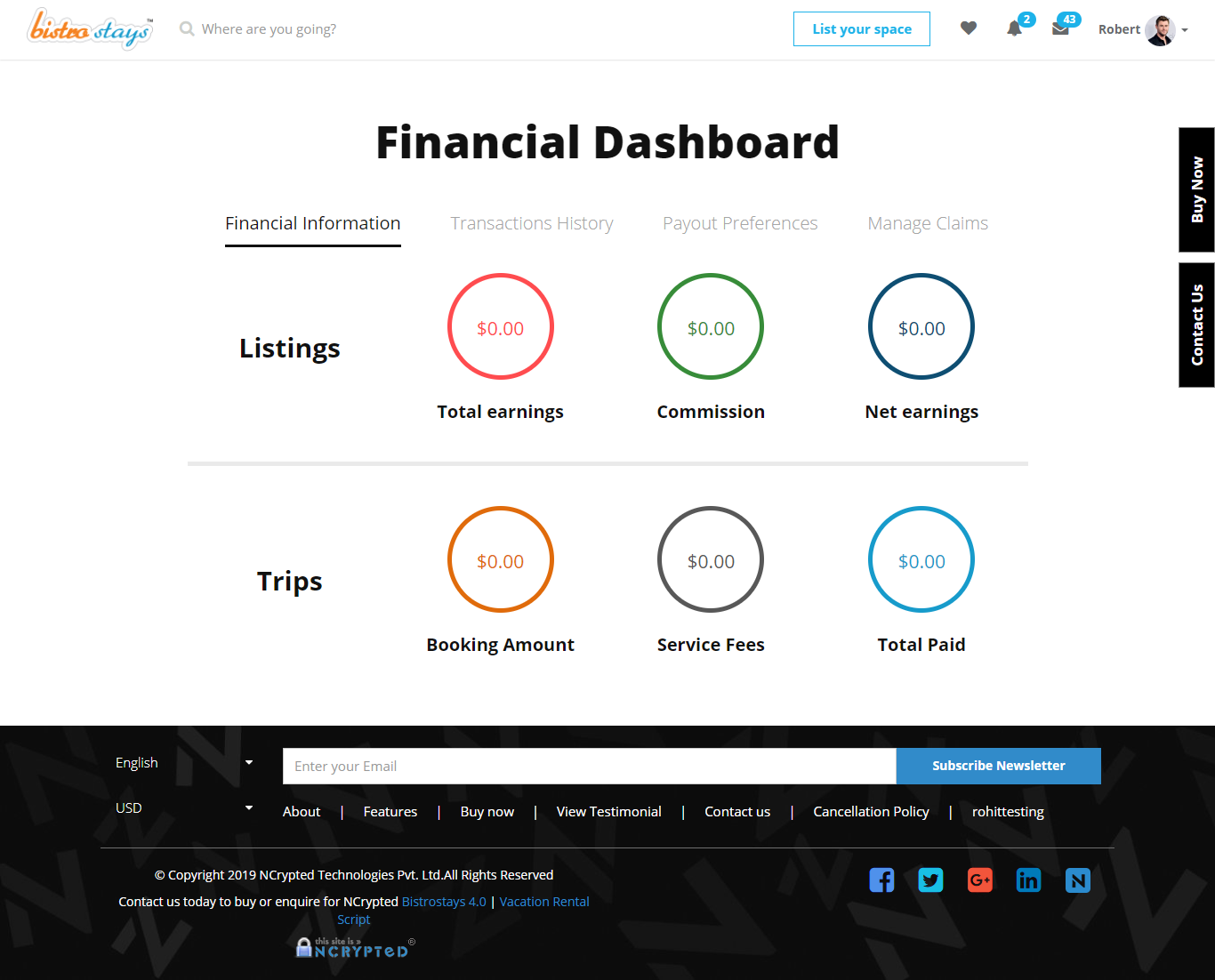 Interactive Host and Guest dashboards